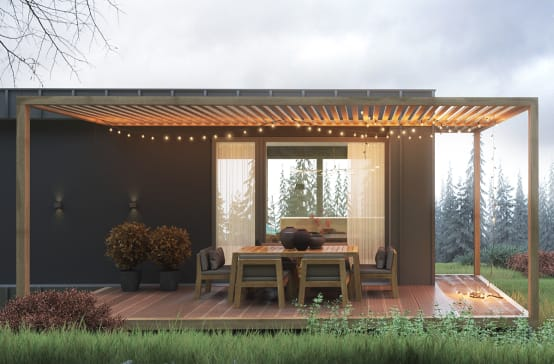 40 terrassen heerlijk buiten zitten - Foto sluit een overdekt terras ...