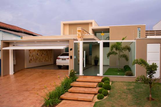 26 ideias lindas para decorar a frente da casa - Fotos de entradas de casas ...
