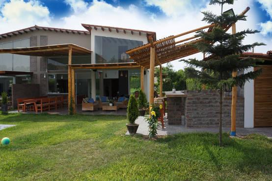Una casa de campo que tienes que ver antes de construir la - Jardines en casas de campo ...