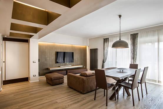 Un appartamento moderno e raffinato a roma - Soggiorno moderno roma ...