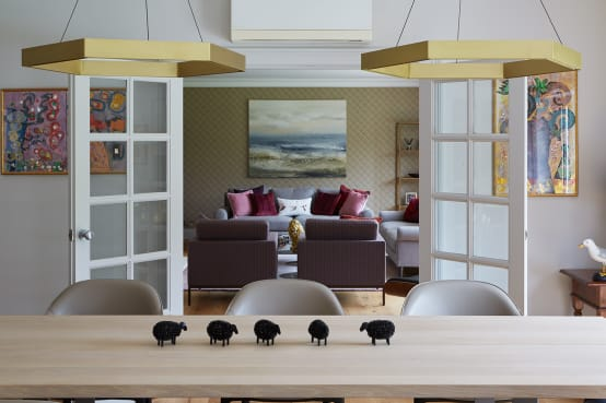 dining table to sitting room
