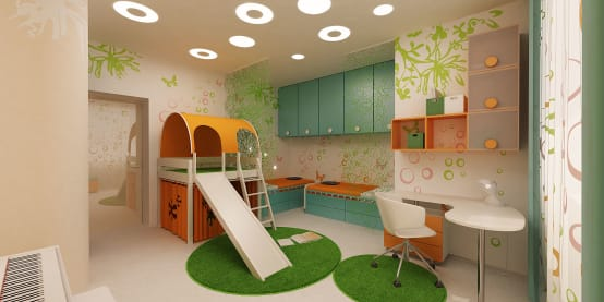 Kid's rooms that keep the little ones busy and happy!
