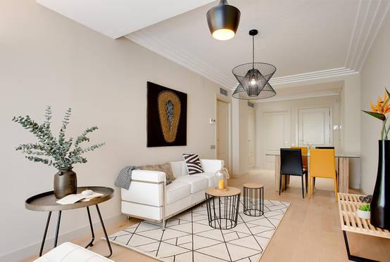 Un piso de 70 m en barcelona que enamora a cualquiera - Decoracion moderna de salones ...