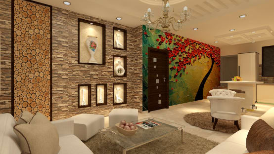 15 creative interior design ideas for indian homes for Interior design in living room