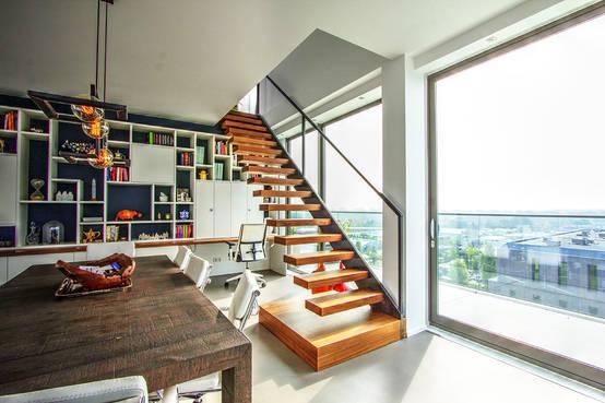 eindrucksvolle treppen f r jeden geschmack. Black Bedroom Furniture Sets. Home Design Ideas