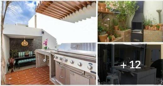 15 patios peque os con asador para que te animes a for Asador en patio pequeno