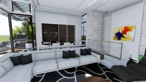 14 ideas para tu sala toques m gicos blanco y negro - Decoracion clasica moderna ...