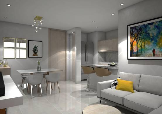 Apartamento moderno lleno de claridad for Comedores sencillos y pequenos