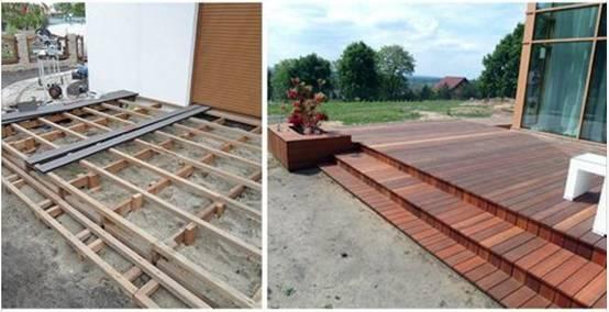 C mo instalar un piso de madera en la terraza - Instalacion piso madera ...