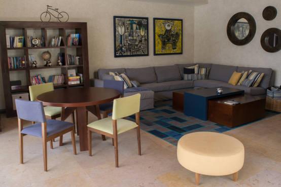 25 salas que te van a inspirar si tu casa es peque a for Como acomodar una sala y comedor en un espacio pequeno