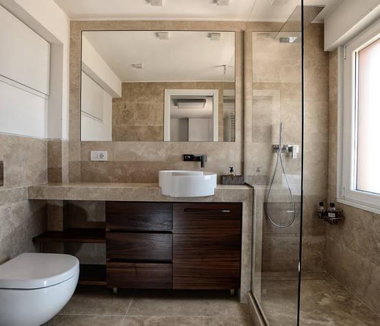 Idee Bagno Stile Minimalista 13401 : Casas de banho com revestimento pedra
