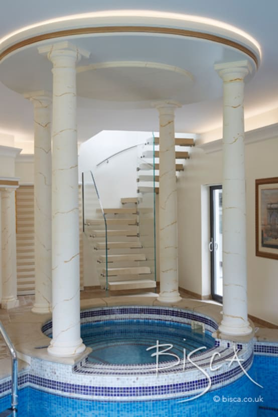 Sandstone Staircase for Pool House and Gym Area