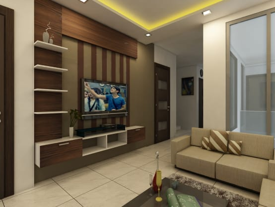 A modern and cosy home in hyderabad for Home passage designs