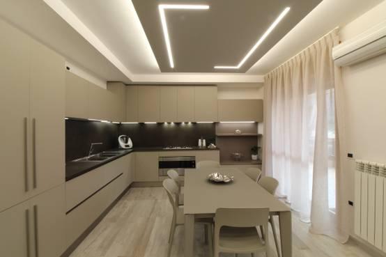 Una casa disegnata con la luce for Foto sale da pranzo moderne