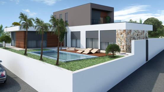 Guia sobre casas modernas em portugal for Casa moderna l