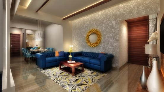 A gorgeous 2bhk home in mumbai for Living room structure design