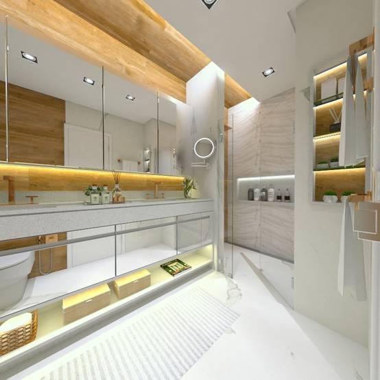 Projeto de Banheiro em Brasília: Surpreenda-se com este Design Único