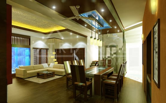 A Luxurious And Stylish Home In Trivandrum
