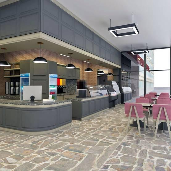 İç ve dış mekanlarıyla rağbet görecek bir cafe/restoran tasarımı