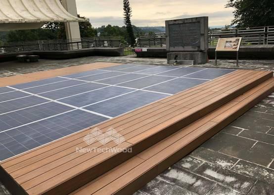 石門水庫─太陽能板平台與柚木平台