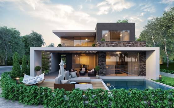 Edremit'te rüya gibi bir modern villa projesi