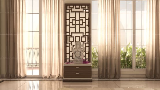 8 Pooja Unit Designs for Modern Living Rooms