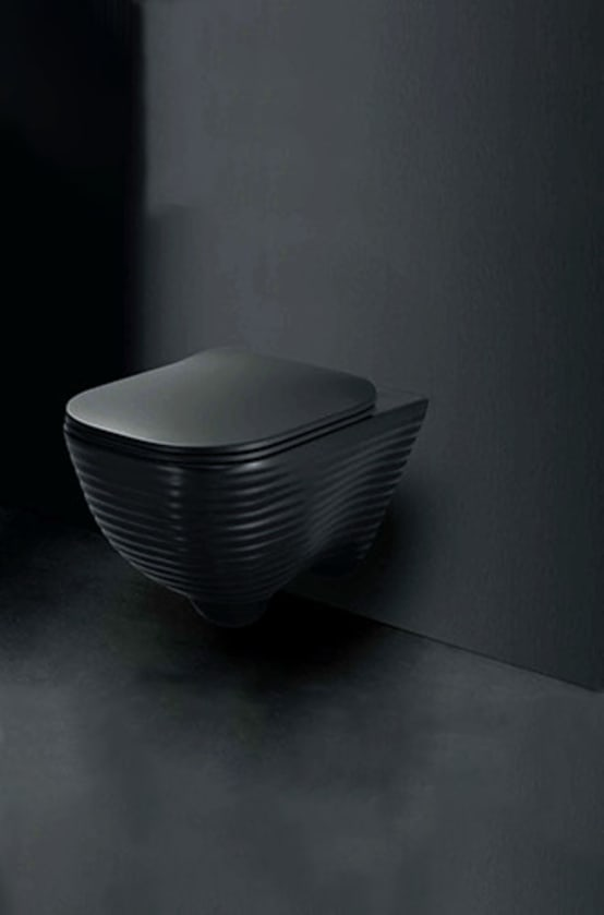 Wall Mounted Water Closet (Matte Black)—Le Forme