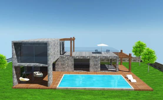 Muğla'daki bir mimarlık firmasından villa tasarımları