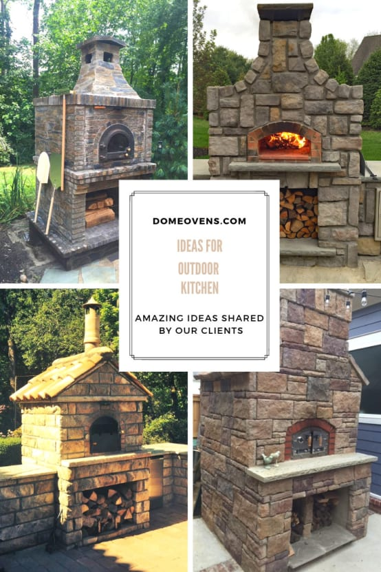 Wood—fired pizza oven