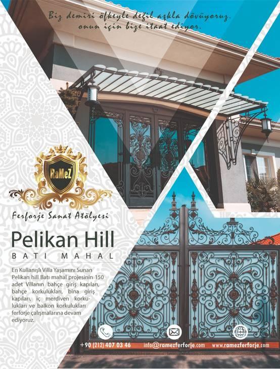 Pelican Hill Batı Mahal Ramez Ferforje ile çalışmalarına devam ediyor