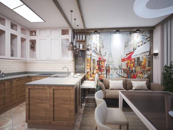 Интерьер квартиры в стиле лофт для семьи с ребенком 89 м² | homify