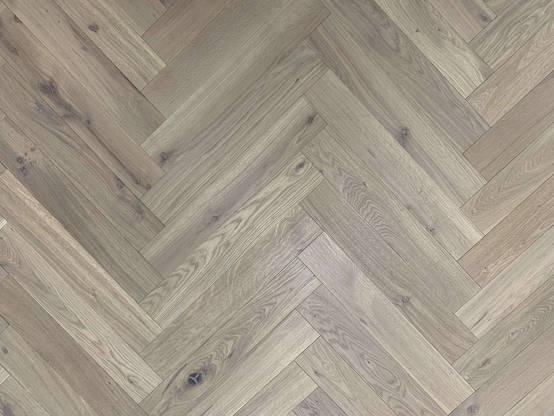 Mud Light – European Oak Herringbone Parquet Flooring
