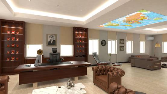 Denizli'de avcılık temalı bir ofis projesi