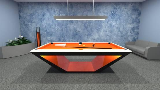 Mesas de snooker coloridas e de alta qualidade