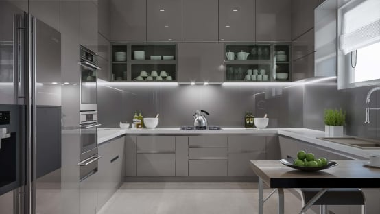 Are Acrylic Kitchen Cabinets Suitable For Indian Kitchens Homify