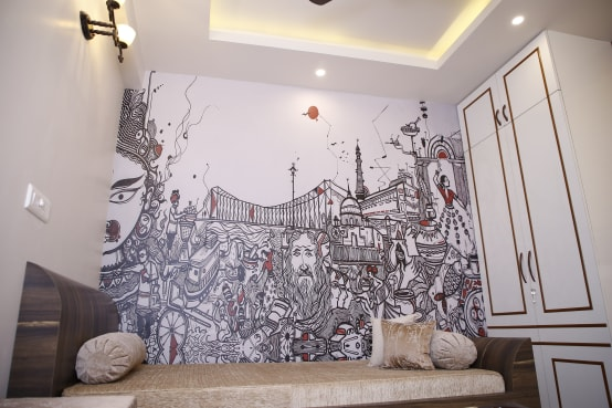 Stylish home interiors for a 4-bedroom residence in Kolkata