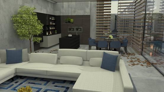 Design de interiores onde o estilo moderno se cruza com o minimalista