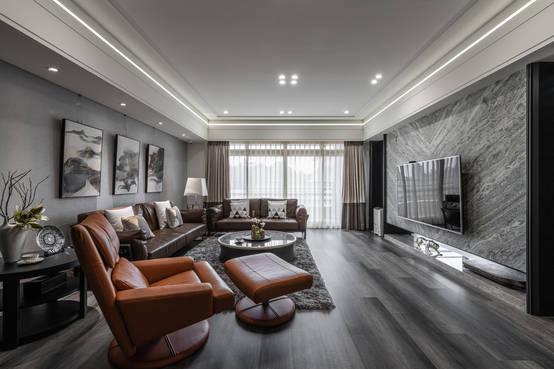 風情萬種的輕奢感:台北70坪大氣現代美宅
