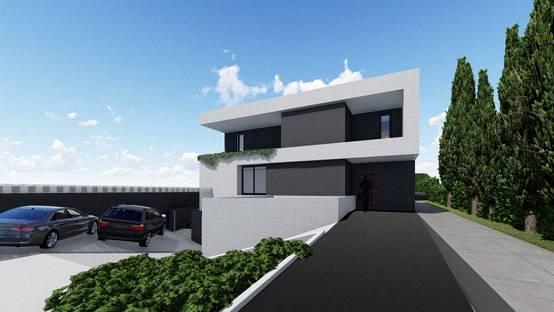 Interesante juego de volúmenes en el diseño de una vivienda en Toledo