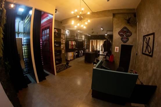 Projeto para loja de moda masculina estilo industrial em Paranavaí/PR