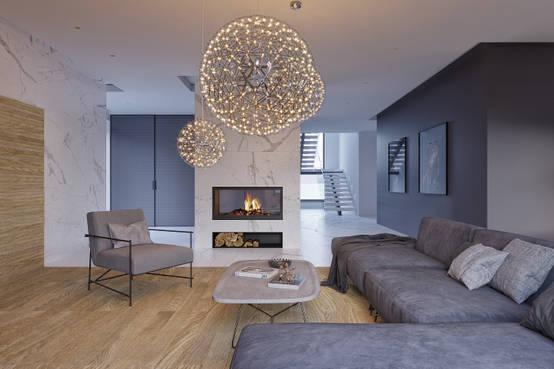 Дизайн интерьера коттеджа в стиле минимализм 350 м² | homify