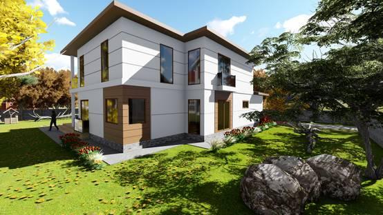 Sağlamlık, konfor ve tasarrufu buluşturan bir çelik villa | homify | homify