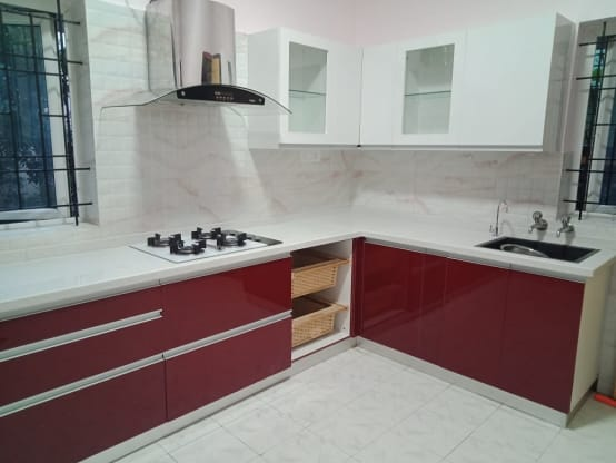 Modular Kitchen Design for a Home in Bangalore