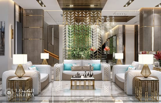 Luxury living room design in contemporary style