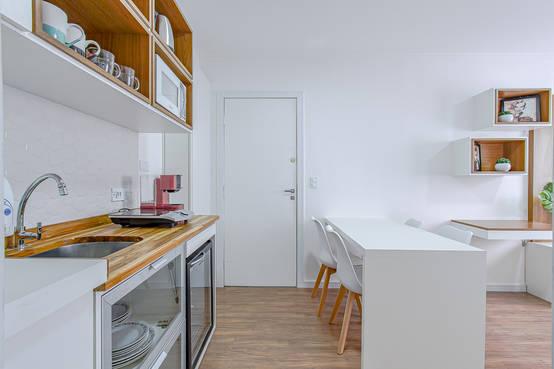 Projeto de Interiores de Apartamento Pequeno em Curitiba