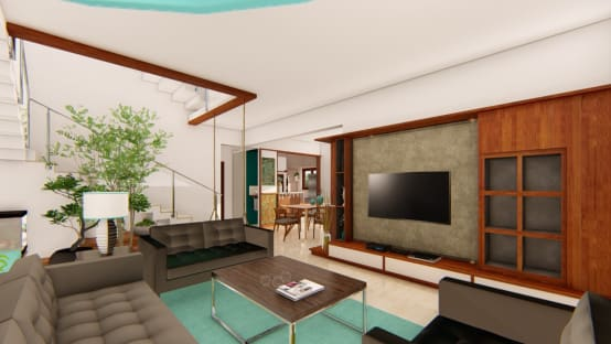 Well-Planned and Modern Interiors For a Row House in Bangalore | homify