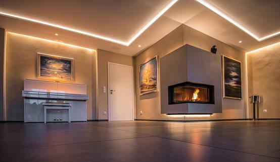 Mit Feuer & Licht: Indirekte Beleuchtung im Wohnzimmer | homify