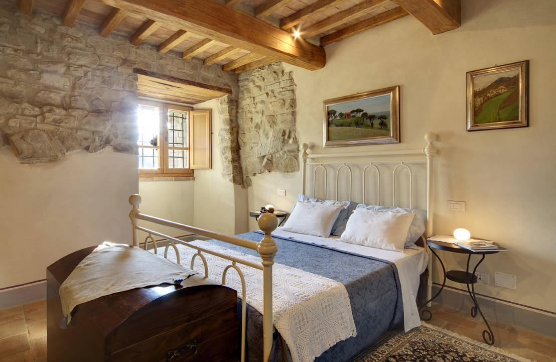 La camera da letto romantica - Camera da letto rustica moderna ...