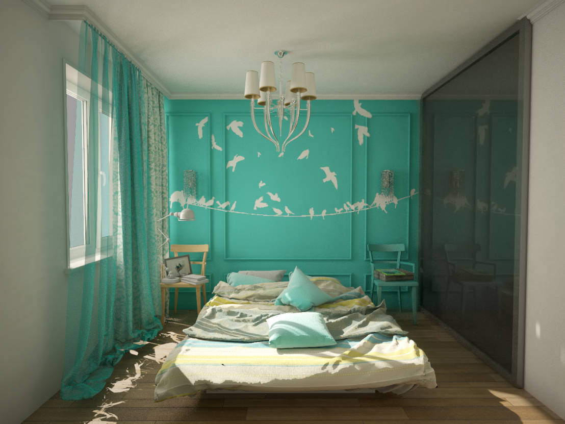 Wandfarbe Türkis für paradiesische Wohnideen