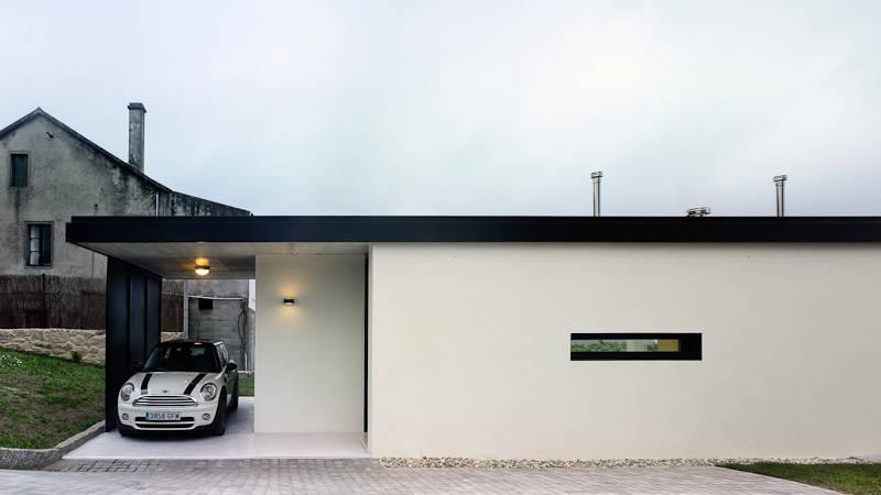 Casa projetada para o futuro moradia de baixo custo for Casa minimalista pequena
